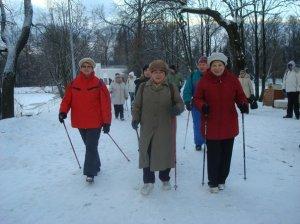 занятия финской ходьбой, скандинавская ходьба, Nordic walking