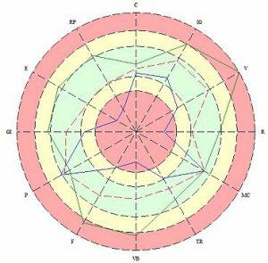 Круговая диаграмма Медискрин, медискрин, компьютерная диагностика организма
